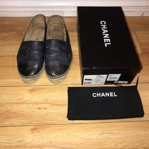 AUTHENTIC Chanel espadrilles calfskin
